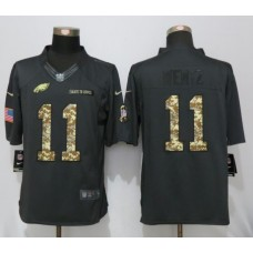 2016  Nike Philadelphia Eagles 11 Wentz Anthracite Salute To Service Limited Jersey
