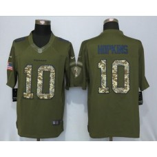 2016 Houston Texans 10 Hopkins Green Salute To Service New Nike Limited Jersey
