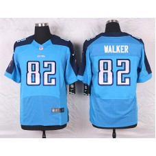 2016 Men's Nike Tennessee Titans 82 Delanie Walker Elite Light Blue Team Color NFL Jersey
