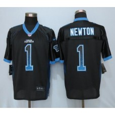 2016 NEW Nike Carolina Panthers 1 Newton Drift Fashion Black Elite Jerseys