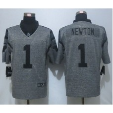 2016 NEW Nike Carolina Panthers 1 Newton Gray Men's Stitched Gridiron Gray Limited Jersey