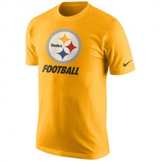 2016 NFL Pittsburgh Steelers Nike Facility T-Shirt - Gold
