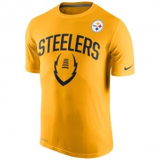 2016 NFL Pittsburgh Steelers Nike Legend Icon Performance T-Shirt - Gold