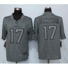 2016 New Nike Miami Dolphins 17 Tannehill Gray Men's Stitched Gridiron Gray Limited Jersey
