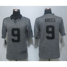 2016 New Nike New Orleans Saints 9 Brees Gray Men's Stitched Gridiron Gray Limited Jersey