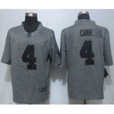 2016 New Nike Oakland Raiders 4 Carr Gray Men's Stitched Gridiron Gray Limited Jersey