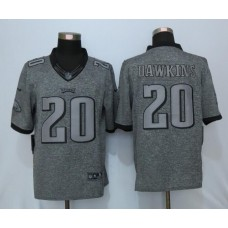 2016 Nike Philadelphia Eagles 20 Dawkins Gray Men's Stitched Gridiron Gray Limited Jersey