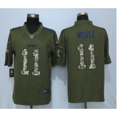 2016 Philadelphia Eagles 11 Wentz Green Salute To Service Nike Limited Jersey