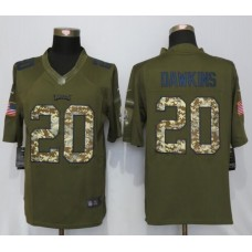 2016 Philadelphia Eagles 20 Brian Dawkins Green Salute To Service Nike Limited Jersey