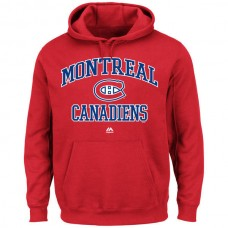 2016 NHL Montreal Canadiens Majestic Heart  Soul Hoodie - Red