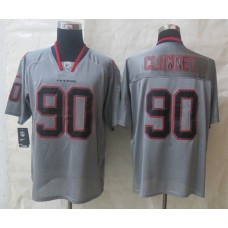 2014 Nike Houston Texans 90 Clowney Lights Out Grey Elite Jerseys